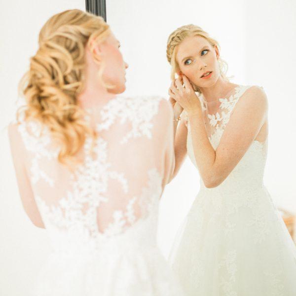 Bruidsmake-up en bruidskapsel Nienke (foto door https://www.elisabethvanlent.nl/)