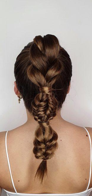 Ponytail freestyle braid
